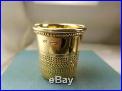1860 Victorian. 9ct(. 375) Large S. J. S. Solid Gold Shot Glass. Heavy 32.7g