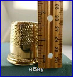 1860 Victorian. 9ct(. 375) Large S. J. S. Solid Gold Thimble. Heavy 32.7g Largest