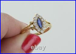 18ct Yellow Gold Victorian Sapphire and Diamond Dress Ring REF2003