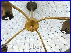 31 Large Antique French Empire Victorian Beaded Basket Crystal Chandelier 1900