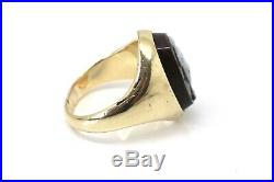 A Nice Large Heavy Antique Victorian 18ct Yellow Gold Hardstone Cameo Ring 22960