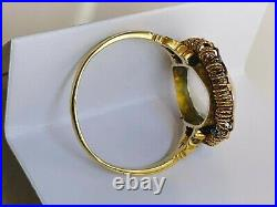 Antique Early Victorian Large Moonstone Gold Ring Unusual