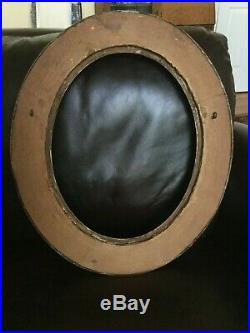 Antique Oval Gold Gilt Gesso Wood Picture Frame LARGE 20 x 17