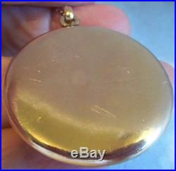 Antique Victorian 1841 Large Gold Filled Mourning Locket Necklace Picture