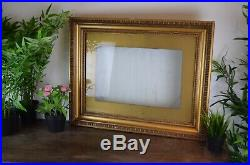 Antique Victorian Gold Gesso Gilded Large Picture Painting Decorative Frame