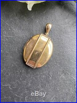 Antique Yellow Gold Locket Buckle Large Size Pendant Victorian