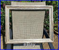 C1850 Excellent Large American Victorian Silver Gilded Ogee Folk 16 x 22 Frame