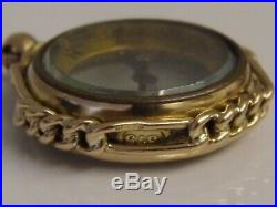 LARGE IMPRESSIVE ANTIQUE VICTORIAN 9ct GOLD WORKING COMPASS WATCH FOB PENDANT