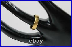 Ladies 22 Carat Gold Antique Victorian Simple Thick Wedding Band Ring Size L