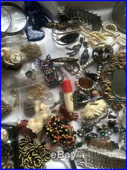 Large Job Lot Of Antique Victorian & Modern Jewellery 120+ Items 9ct Gold Silver