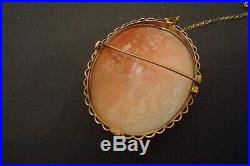Large Victorian Cameo Brooch With 9 ct Gold Frame. George and the Dragon