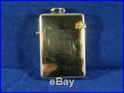 Large Victorian Solid 9ct Gold Vesta Case, London 1895 by George Heath. 24.1g