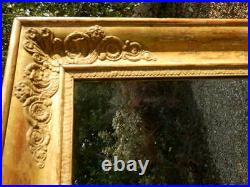 Mirror, Large wall or free standing, Gilded frame, antique, Victorian