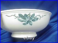 RARE 1887 BROWN-WESTHEAD MOORE & CO KEW Very Large Bowl 16 by 6 BLUE and GOLD