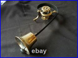 Reclaimed Antique Single Large Victorian Brass Restored Servant Bell (EB395)