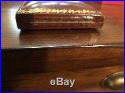 The BEST Antique Box For Large Victorian Dangle Earrings Leather Gold Trim