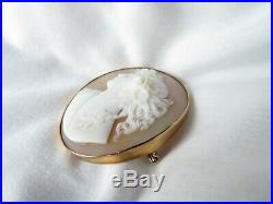 Unmarked Gold large Victorian Cameo
