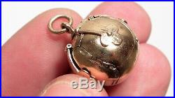 VERY RARE LARGE Antique Victorian 9CT Gold MASONIC Orb OPENING Pendant Fob 14.9G