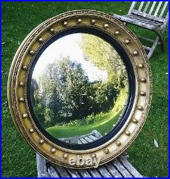 Very Large Regency/early VIC Country House Gold Leaf Convex Butler's Mirror