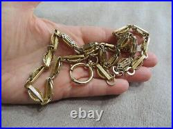 Victorian Beautiful Gold Filled Book Chain withLarge Spring ring clasp Necklace
