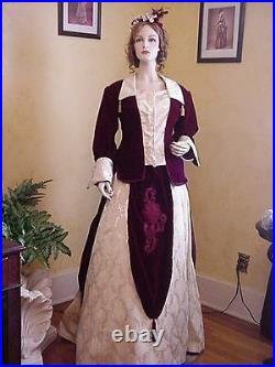Victorian Bustle Dress Gown Vintage Reproduction Theater Gown