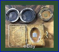 Victorian Gold Lockets Mourning Jewelry Brooch Photo Pendant Antique Large Lot