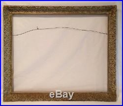 Vintage Gesso Frame Large Chalky White Gilt Wood 27 x 23 for 24 x 20 Picture